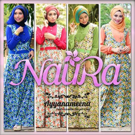 Jaguard Gliter Motif M Dan L baju muslim gaya open po naura by ayyanameena