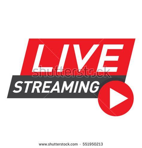 design news online live streaming logo red vector design stock vector