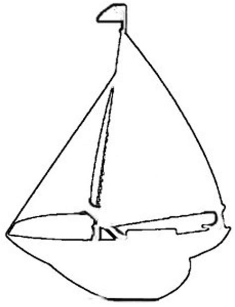 Sailboat Outline by Nautical Free Craft Patterns For Everyday Arts Crafts