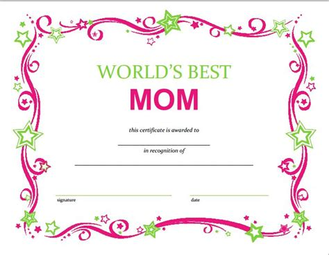 s day certificate free mothers day printable certificate printables