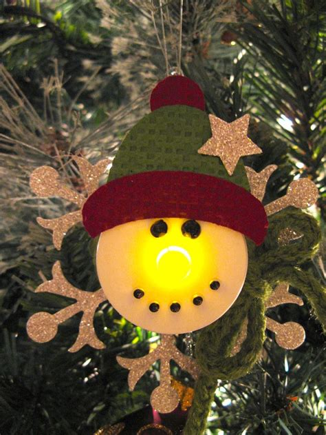 tea light christmas crafts snowman ornament made with a battery operated tea light
