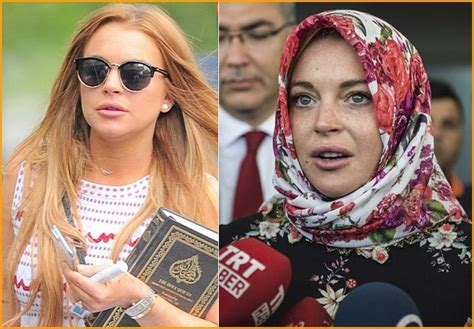 hollywood actress with quran lindsay lohan se hace islamista