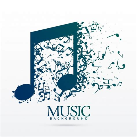 poster design notes abstract music notes design vector free download