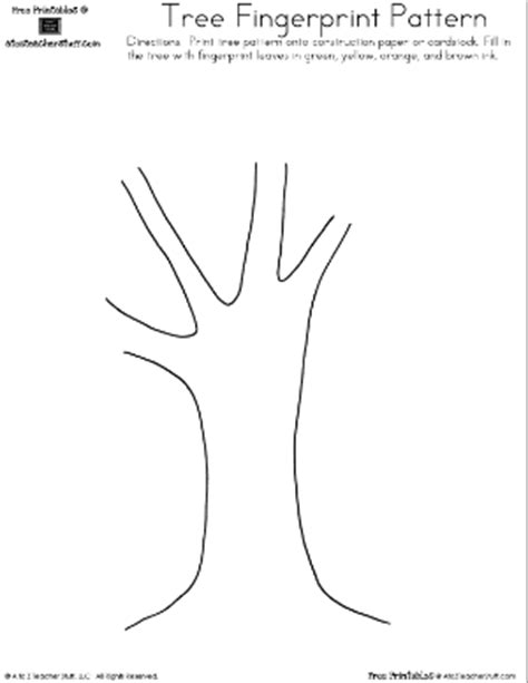 fingerprint paper template tree fingerprint pattern a to z stuff