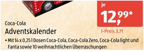 Coca Cola Adventskalender 2016 by Coca Cola Adventskalender 2018 Wo Kaufen Preis