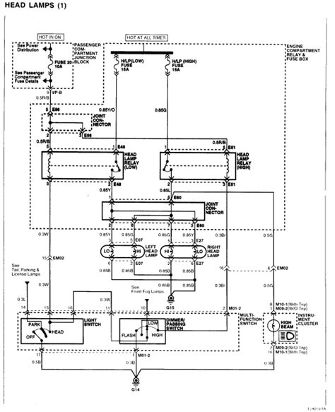 wiring diagram   headlight