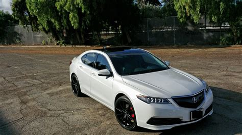 2009 acura tl with black roof wrap cut rims 19 inch wheels acura tlx acura tlx rims