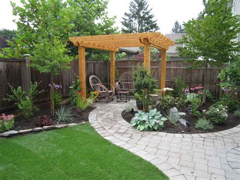 Simple Patio Ideas For Small Backyards by Diy Landscaping Ideas Andre Real Estate Inc