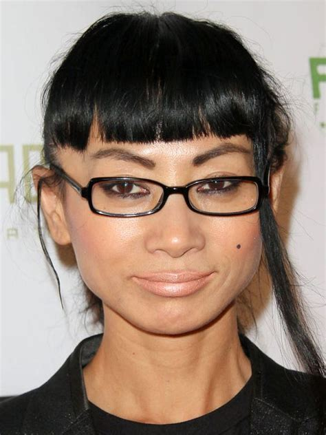 ling hairstyles for tall women bai ling square faces and bangs on pinterest