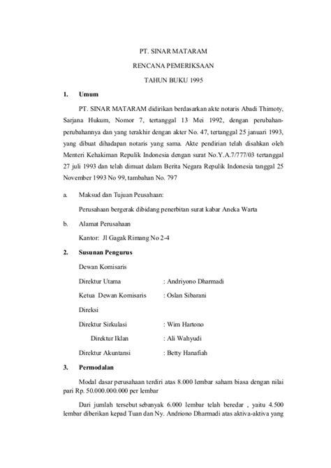 Sawyerr Auditing Buku 1 Edisi 5 surat perencanaan audit 2007 audit plan