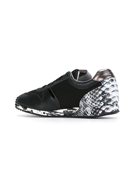 Just Shoes Is just cavalli mixed print sneakers in black for lyst