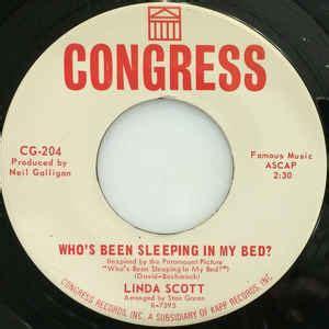 who s been sleeping in my bed linda scott who s been sleeping in my bed vinyl at