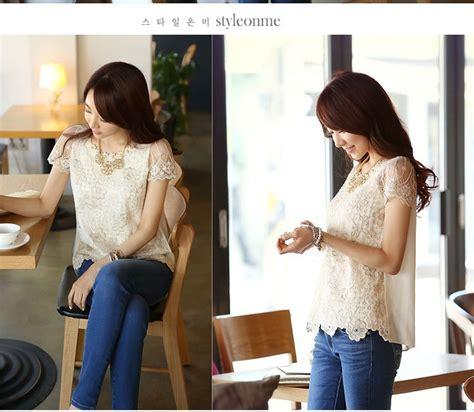 Blouse Cantik Untuk Wanita Mbm 05 atasan wanita korea brokat cantik model terbaru jual