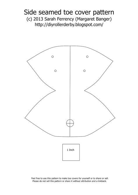 pattern for roller skate diy roller derby skate toe covers caps pattern tutorial
