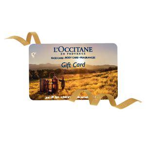 L Occitane Gift Card - l occitane gift card 163 100 gift cards l occitane en provence united kingdom