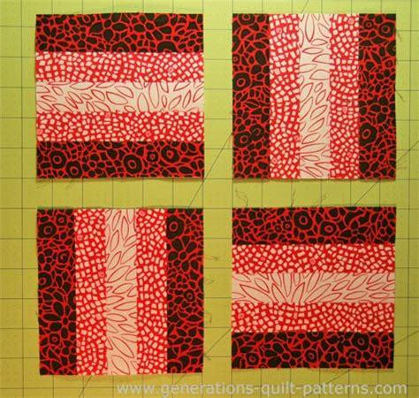 Rail Quilt Pattern by Beginning Quilting Rail Fence Quilt Block Tutorial