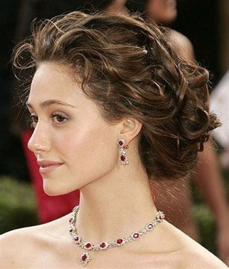 emmy rossum updo naturally curly updo emmy rossum hair beauty pinterest