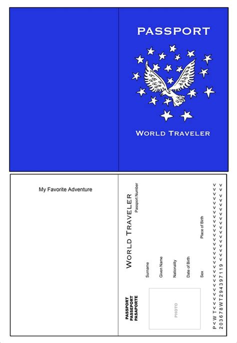 passport template passport template for printable 28 images passport