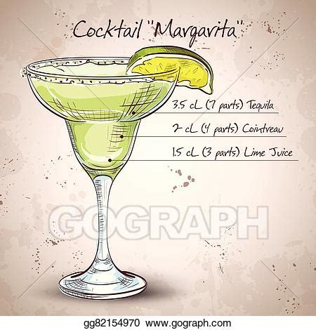 margarita drawing vector cocktail margarita clipart drawing