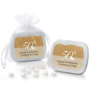 50th Wedding Anniversary Favors by 50th Anniversary Mint Tin Favors Anniversary