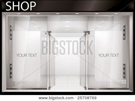 shop front template shop front exterior horizontal windows empty for your