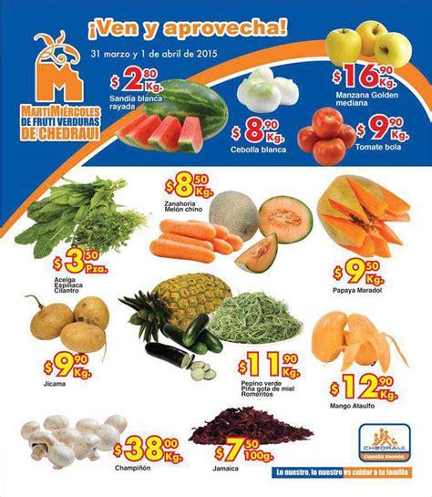 martes y miercoles de frutas y verduras chedraui 28 y 29 de enero chedraui martes y mi 233 rcoles de frutas y verduras 31 marzo