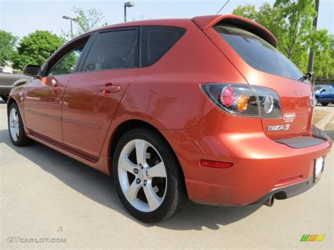 orange mazda 3 hatchback lava orange mica 2005 mazda mazda3 s hatchback exterior