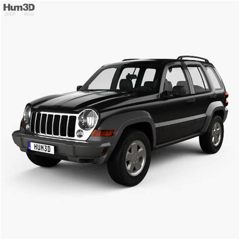 Jeep Liberty Kj Limited 2005 3d Model Hum3d
