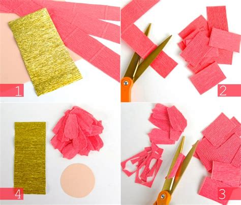 Things To Make Out Of Crepe Paper - diy crepe paper flowers oh my handmade