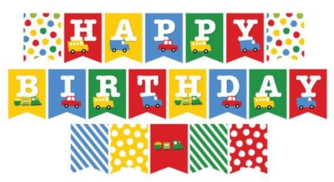 printable happy birthday banner boy boy toys happy birthday bunting and birthday bunting on
