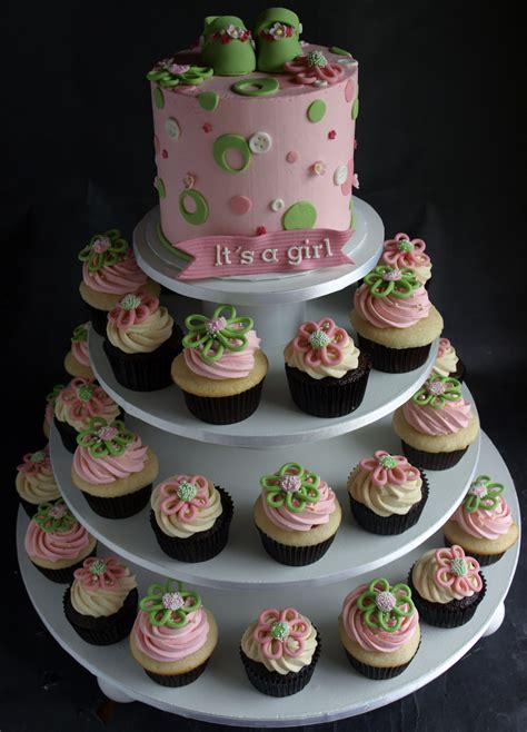 Cupcake Tower For Baby Shower by Cupcakes By Laurie Clarke Cakes