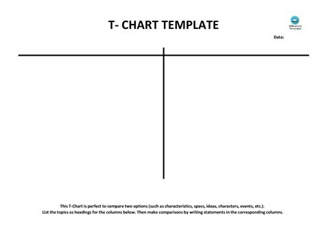 free t chart exle blank templates at