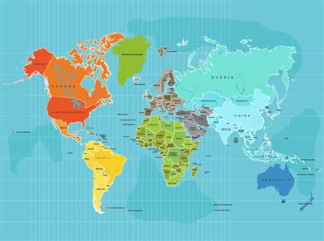 map world poster world map poster country names 12x16 other sizes travel