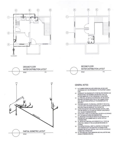 Isometric Plumbing Layout by Pin Isometric Layout On