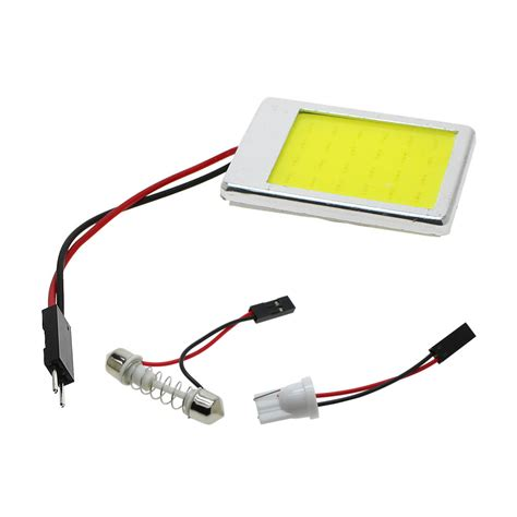 Kunci T 1 Set 1set led white 24 smd car interior leds panel t10 cob chip 31 42mm festoon dome 12v adapter auto