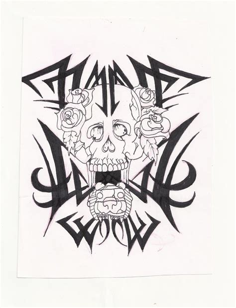 skull with tribal tattoo designs aztec tattoos and designs