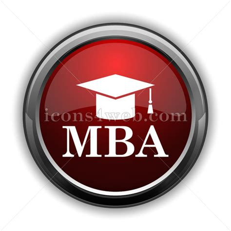 Glossier Mba by Mba Icon Glossy Web Icon With Shaddow