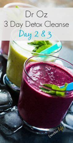 Dr Oz 3 Day Detox Diet Menu by 1000 Ideas About Three Day Detox On Healthy