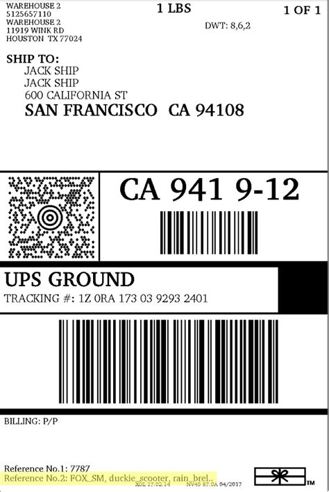 ups shipping label template how to customize ups domestic shipping labels
