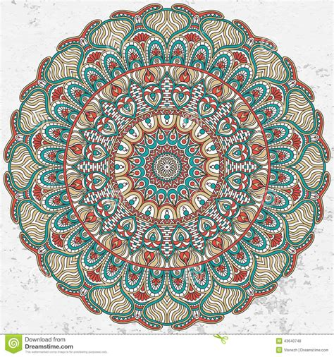 mandala stock vector image  beautiful grunge