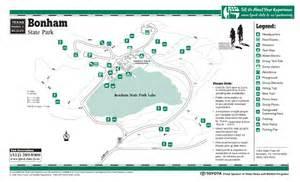 bonham state park trail map bonham mappery