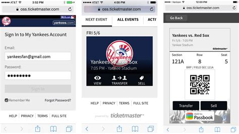 yankees mobile digital ticket delivery how to access your mobile