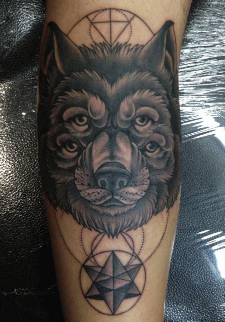 tattoo geometric sydney mark lonsdale tattoo sydney bondi wolf eyes dots lines