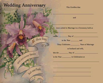 anniversary certificate templates anniversary certificate 25th anniversary ideas