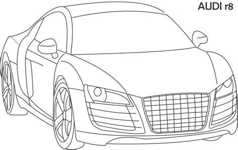 super car audi  coloring page  kids