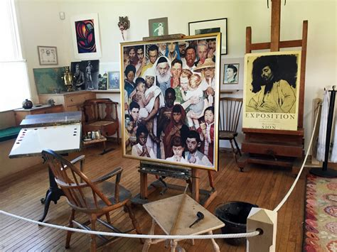 Nantucket Kitchen Island norman rockwell s studio at the norman rockwell museum in