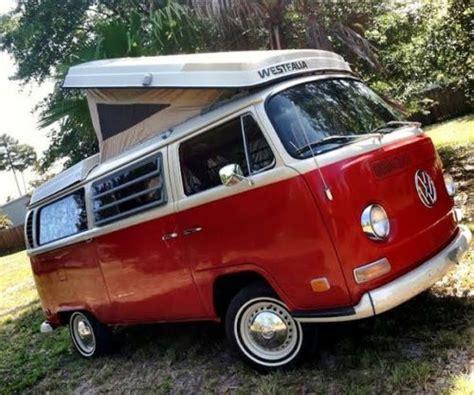 purchase   vw camper westfalia campmobile bus van poptop popup bay window rv restored