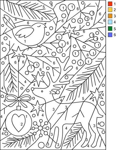 color by number coloring pages for christmas color by number christmas things christmas