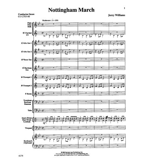 barn house music nottingham march by williams j w pepper sheet music