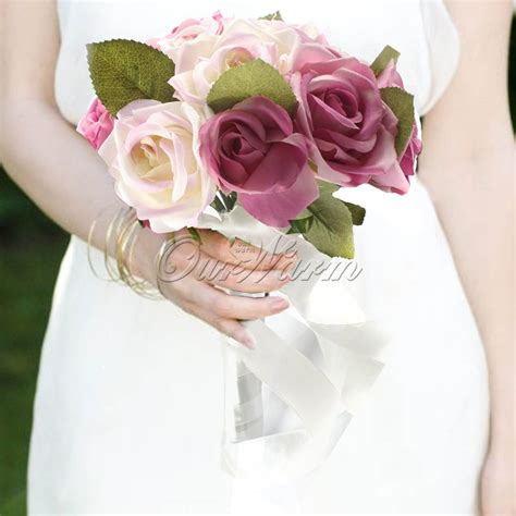 Silk Wedding Flowers Cheap by Get Cheap Cheap White Roses Aliexpress